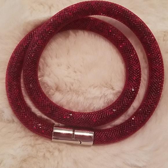 62217abd7 Swarovski Jewelry | Red Stardust Wrap Bracelet | Poshmark